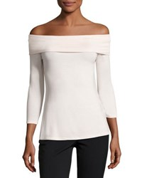 Neiman Marcus Off The Shoulder 3 4 Sleeve Top Light Pink