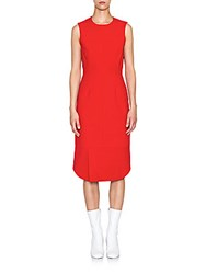 Jil Sander Anice Sleeveless Dress Medium Red