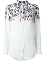Equipment Nautical Knot Print Shirt White