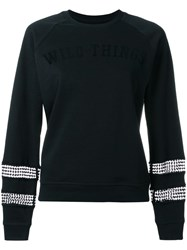 Zoe Karssen Wild Things Sweatshirt Black