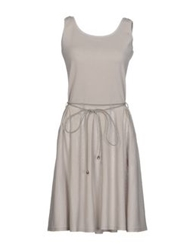 Have A Nice Day Short Dresses Light Grey