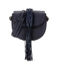 Altuzarra Ghianda Saddle Knot Leather Shoulder Bag Blue