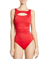 Magicsuit Fiona Cutout Underwire One Piece Swimsuit 100 Bloomingdale's Exclusive Crimson