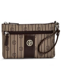 Giani Bernini Stripe Signature Wristlet Only At Macy's Khaki Brown