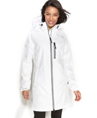 Helly Hansen Jacket Long Belfast Hooded Raincoat White