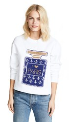 Michaela Buerger Perfume Bottle Sweater With Anchors White
