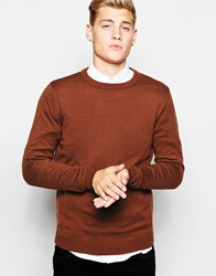 New Look Crew Neck Jumper Brickred