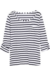 Splendid Venice Striped Slub Jersey Top White