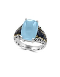 Effy Sapphire Chalcedony 18K Yellow Goldplated And Sterling Silver Ring