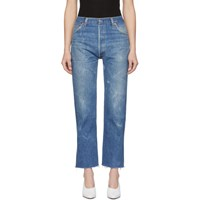 Re Done Indigo Levi's Edition High Rise Stovepipe Jeans
