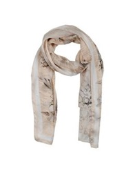 John Galliano Oblong Scarves Beige