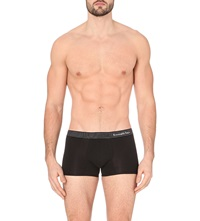 Zegna Striped Waistband Stretch Cotton Trunks Black
