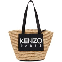 Kenzo Beige And Black Summer Basket Tote