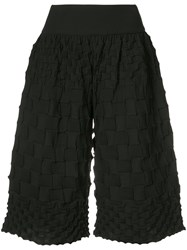 Issey Miyake Pleats Please By Pierrot Knit Shorts Women Cotton Polyester 3 Black