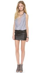 Madison Marcus Hue V Neck Dress Pewter
