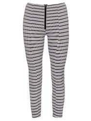 Lisa Marie Fernandez Hannah Striped Performance Leggings Black White