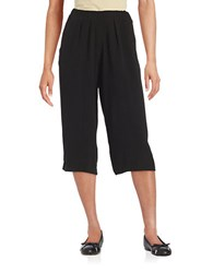 Imnyc Isaac Mizrahi Crepe Pleated Gaucho Pants Black