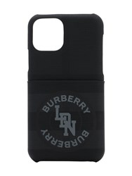 Burberry Logo Coated Canvas Iphone 11 Pro Case Charcoal