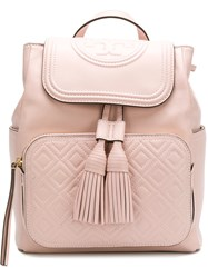 Tory Burch Fleming Backpack Pink And Purple
