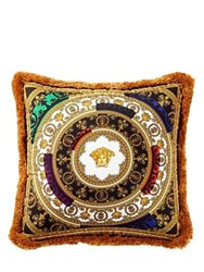 Versace I Love Baroque Silk Accent Pillow Multicolor