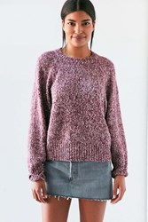 Kimchi And Blue Marled Raglan Sweater Blush