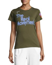 Freecity The Real Movement Short Sleeve T Shirt Green