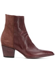 Officine Creative Audrey Boots Buffalo Leather Calf Leather Leather Red