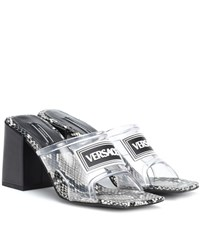 Versace Leather And Pvc Sandals Black