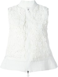 Moncler Floral Applique Gilet White