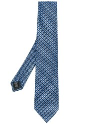 Ermenegildo Zegna Patterned Tie Blue