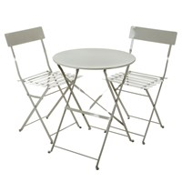 Garden Trading Rive Droite Bistro Table And Chairs Set Clay Grey