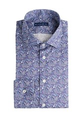 Etro Cotton Paisley Print Shirt Blue