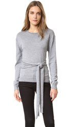 N 21 Sweater With Front Tie Grey