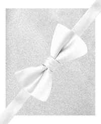 Alfani Spectrum Sateen Solid Pre Tied Bow Tie And Pocket Square Set White