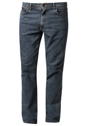 Wrangler Texas Stretch Straight Leg Jeans Stonewash Blue