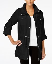 Styleandco. Style And Co. Hooded Anorak Jacket Only At Macy's Deep Black