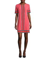 Michael Michael Kors Striped Trim Shift Dress Coral