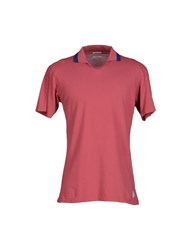 Original Vintage Style Topwear Polo Shirts Men Brick Red