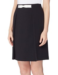 Tahari By Arthur S. Levine Solid Pull On Skirt Black Ivory