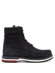 Moncler Vancouver Suede Hiking Boots Navy
