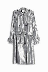 3.1 Phillip Lim Metallic Trench Coat Silver