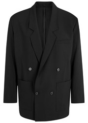 Second Layer Black Double Breasted Wool Blazer