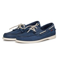 Sebago Navy Nubuck Dockside Boat Shoes Blue