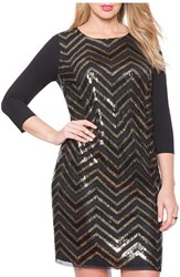 Plus Size Women's Eloquii Sequin Front Sheath Dress