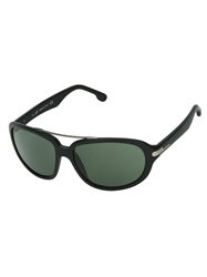 Web Oval Sunglasses Black