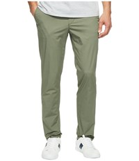 Lacoste Slim Fit Stretch Cotton Twill Trousers Army Men's Casual Pants Green