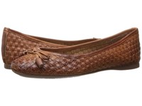 French Sole Vogue Cognac Leather Women's Shoes Brown