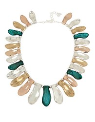 Robert Lee Morris Femme Petal Patina Collar Necklace Green