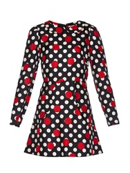 Red Valentino Polka Dot Silk Mini Dress