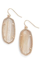 Kendra Scott Women's 'Elle' Drop Earrings Gold Dusted Glass Rose Gold